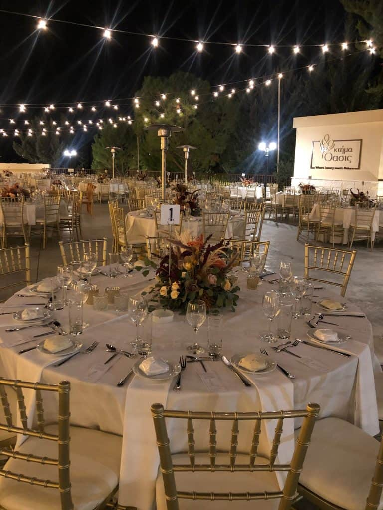 Ktima Oasis Cyprus - Weddings - Baptisms - Corporate Events - wedsetup 2
